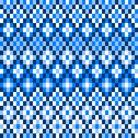 kilim: Colorful blue pixelated geometric diamond shape seamless pattern