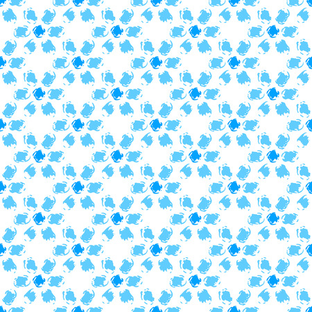 dry flowers: Simple blue and white grunge flowers seamless pattern, background