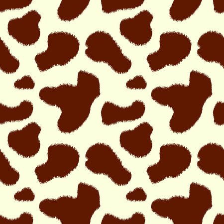 brown skin: Brown and white cow skin animal print seamless pattern