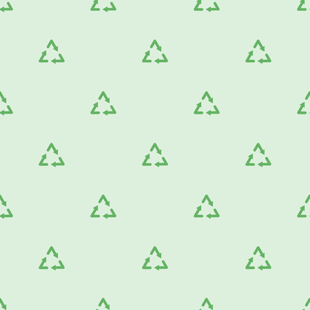 ecological: Green ecological recycle symbol seamless pattern