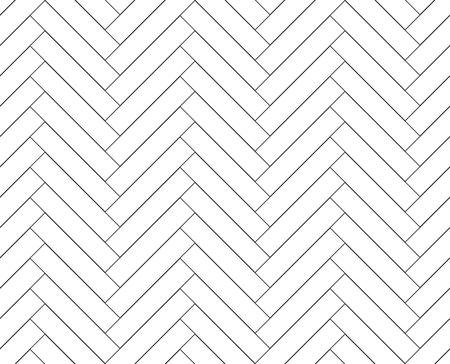 Black and white simple wooden floor herringbone parquet seamless pattern background