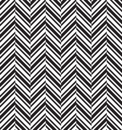 Black and white herringbone chevron fabric seamless pattern, vector background Illustration