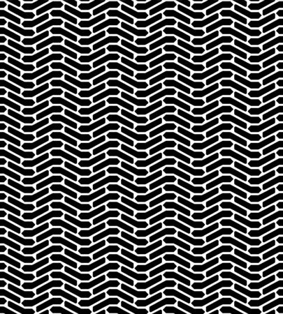 tread: Black and white tire tread protector track abstract geo seamless pattern, vector