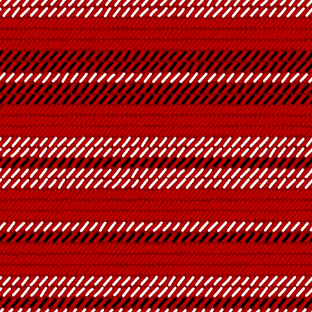 red black and white rug woven striped fabric seamless pattern