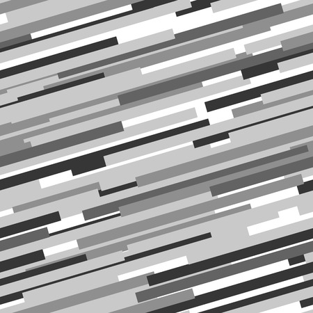 Black and white abstract dynamic striped seamless pattern, vector Illustration