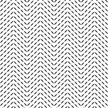 Black and white quilted fabric herringbone stitches geometric seamless pattern, vector