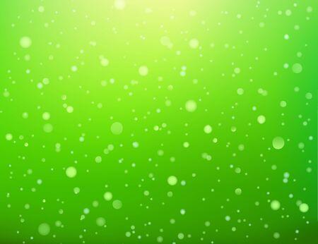 Green abstract light spots bokeh seamless pattern, vector