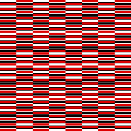 Black red and white abstract simple checker striped geometric seamless pattern, vector