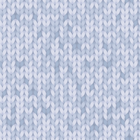 Blue melange knitted fabric seamless pattern, vector background