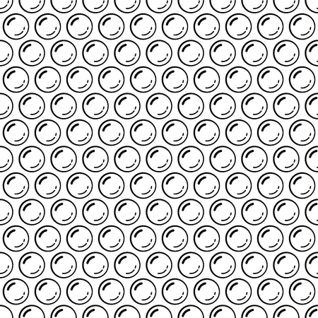 Black and white bubble wrap packing material seamless pattern, vector background