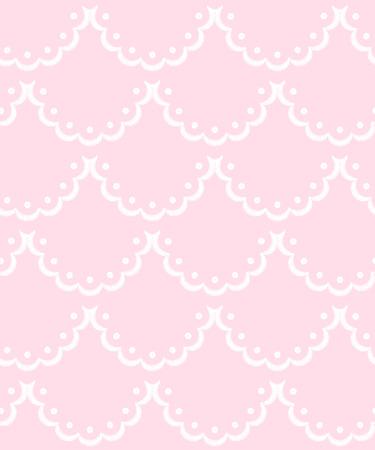 Rosa und weiß überbackene Spitzenstickerei, nahtloses Muster, Vektorhintergrund vector