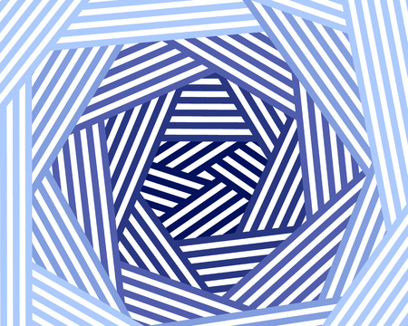 Blue and white chaotic striped geometric background, vector illustration