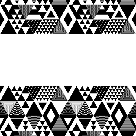 Black and white textured bold triangles geometric abstract template, vector