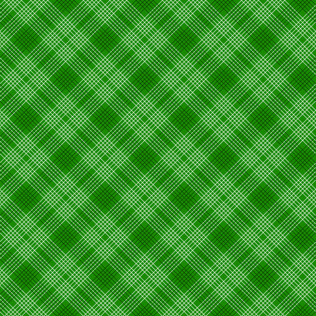 Black and green tartan traditional fabric seamless pattern, vector illustration