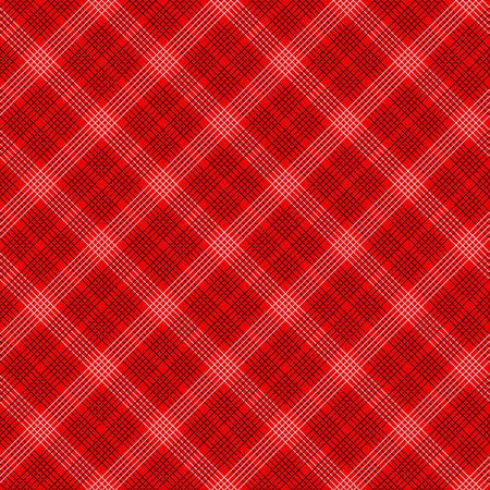 Black and red simple tartan traditional fabric seamless pattern, vector illustration Illustration