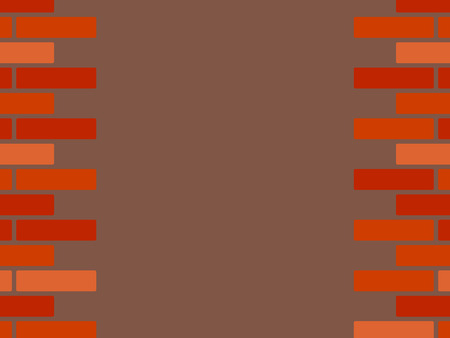 Red shades brick wall poster template, vector background Çizim
