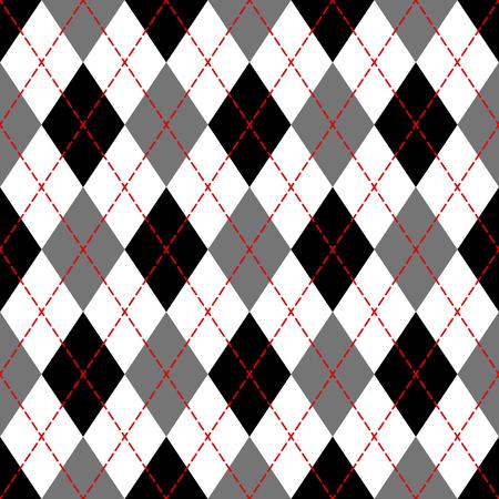 Black and white argyle geometric checkered seamless pattern, vector illustration 版權商用圖片 - 119052952