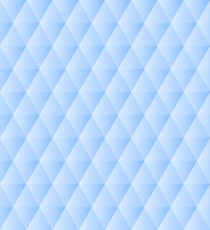 Blue and white polygonal triangles simple abstract geometric seamless pattern, vector Çizim