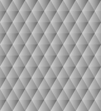 Black and white polygonal triangles simple abstract geometric seamless pattern, vector