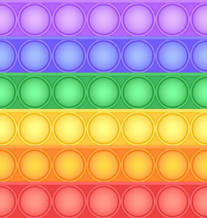 Pop-it viral fidget toy colorful seamless pattern, vector
