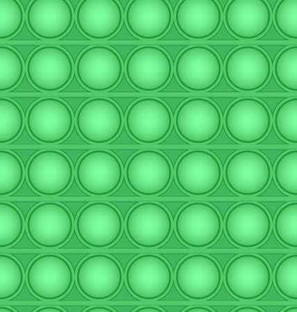 Pop-it viral fidget toy green seamless pattern, vector