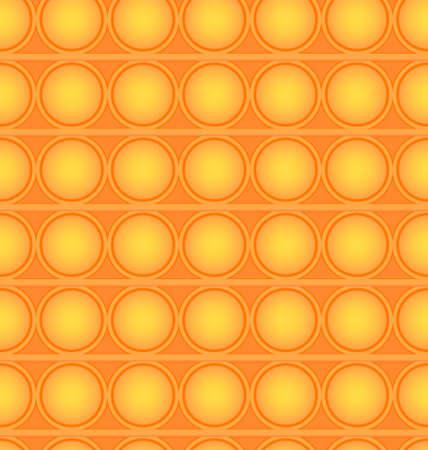 Pop-it viral fidget toy orange seamless pattern, vector