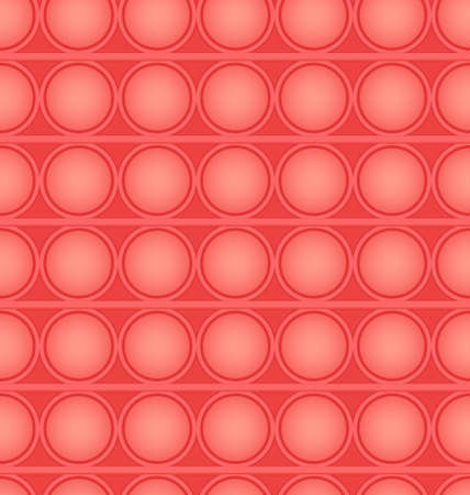 Pop-it viral fidget toy red seamless pattern, vector