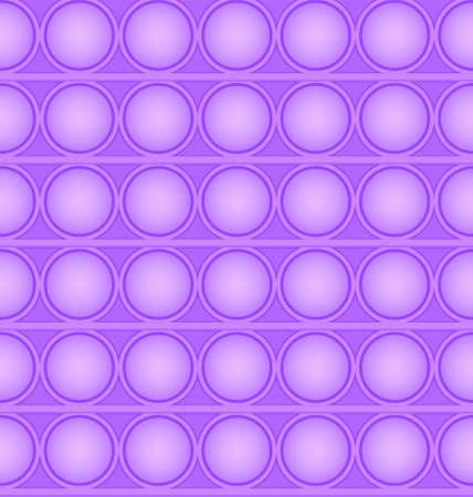 Pop-it viral fidget toy violet seamless pattern, vector Çizim