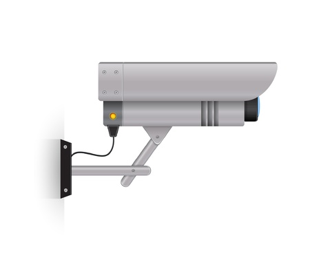 Outdoor security camera Illustration
