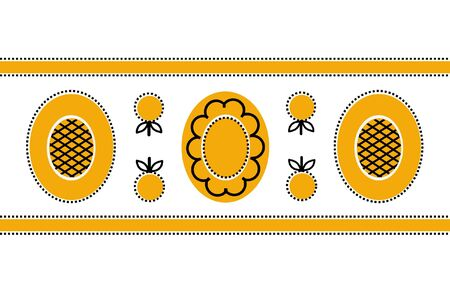 Yellow national pattern