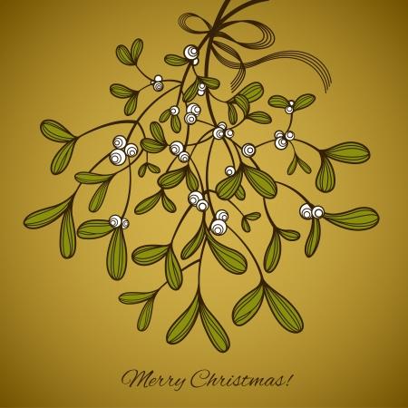Card with mistletoe