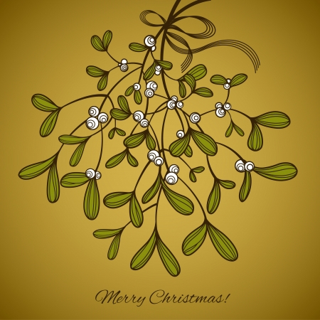 Card with mistletoe