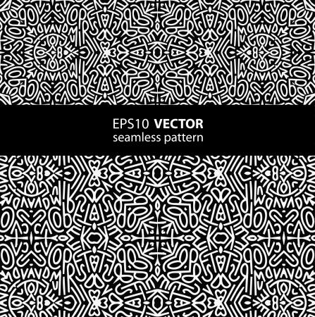 black-white pattern_1 일러스트