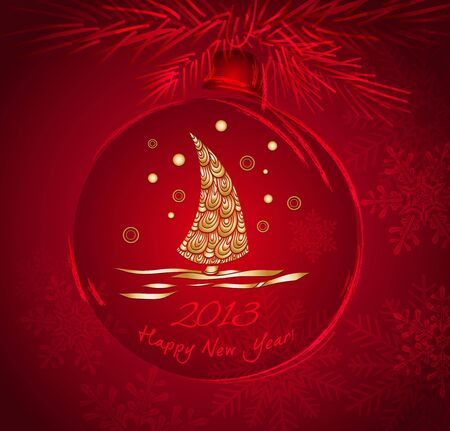 Christmas ball with gold pattern Illustration
