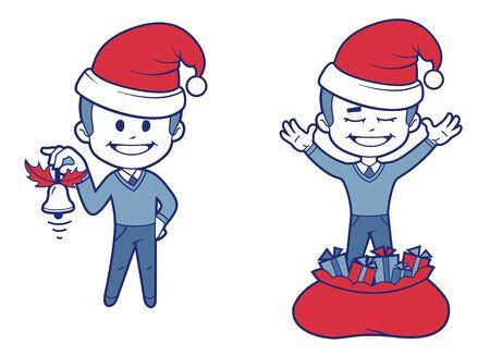 year        s: Capodanno s character_7 Vettoriali