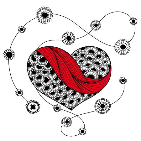 Heart on a string Illustration