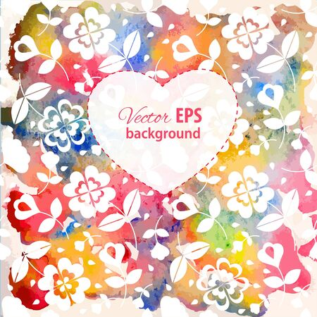 Floral watercolor background Stock Vector - 17804425