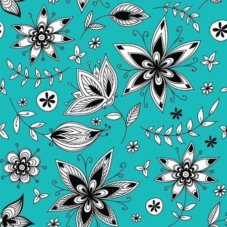 celadon: Floral seamless pattern_2