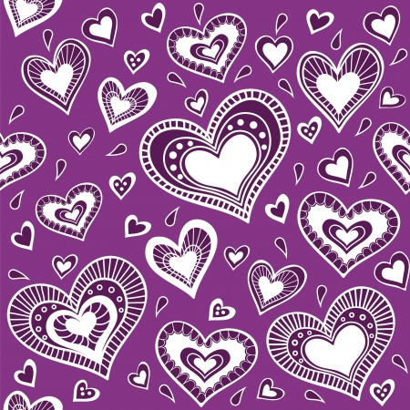 Pattern_purple heart Vector