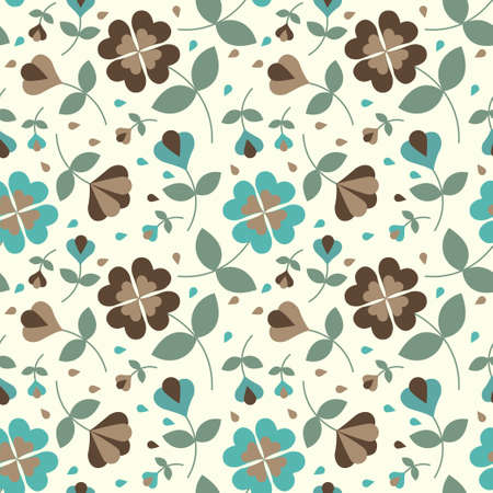 Seamless flower pattern Stock Vector - 17804399
