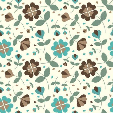 Seamless flower pattern Stock Vector - 17804399
