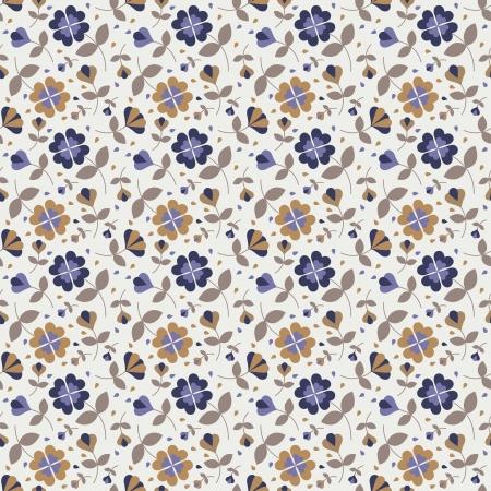 Seamless flower pattern Stock Vector - 17804402