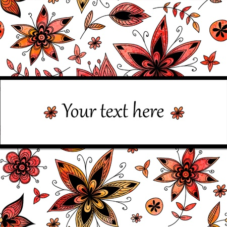 Watercolor background with flowers Stock Vector - 17804406