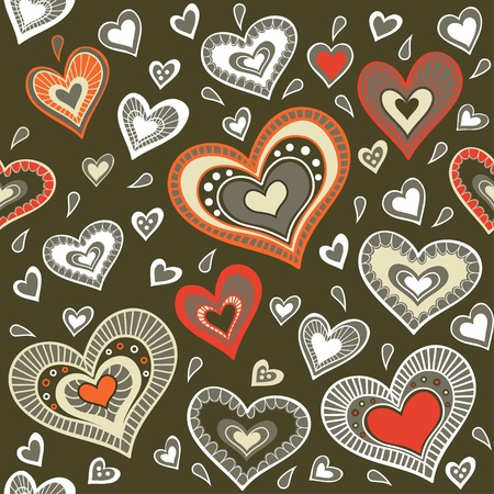 Military pattern with hearts Stock Vector - 19259626
