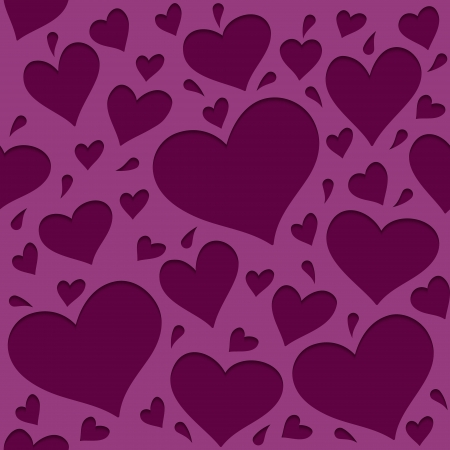 Pattern with hearts_2 Vector