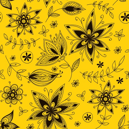 Yellow floral seamless pattern Stock Vector - 19259628
