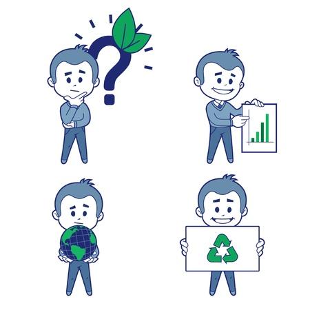 Ecologist_5 Stock Illustratie