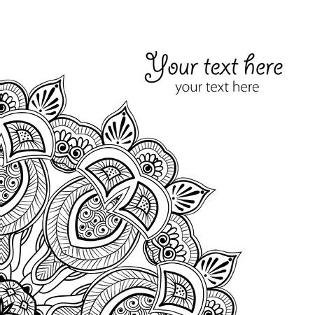 arabesque: illustrazione si pu� utilizzare come sfondo per le celebrazioni, feste, cucito, arte, artigianato, album, impostazione tavolo