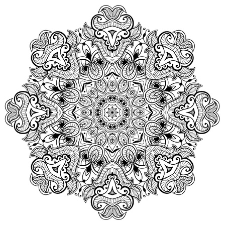 Lacy arabesque designs  Oriental ornament  You can use this pattern in the design of textile, carpet, shawl, cushion, greeting card  스톡 콘텐츠