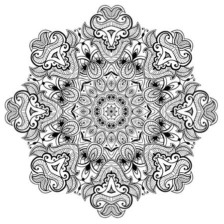 레이스 당초 당신은 직물, 카펫, 숄, 쿠션, 인사 카드의 디자인이 패턴을 사용할 수 있습니다 동양 장식 디자인 스톡 콘텐츠 - 20751794